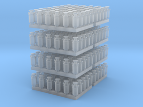 1:160 Milk Cans V2 - 240ea in Smooth Fine Detail Plastic