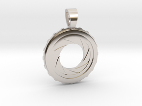 Diaphragm [pendant] in Rhodium Plated
