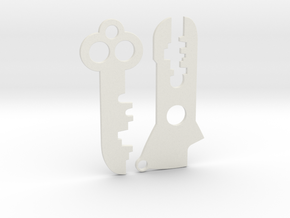 Futurama Planet Express Keys - Blades (2 of 2) in White Natural Versatile Plastic