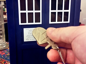 The Eighth Doctor's TARDIS Key in Polished Nickel Steel: Medium