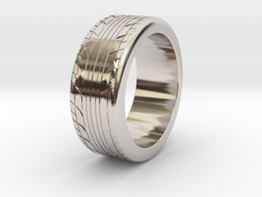 Tire ring 17.3mm request in Rhodium Plated Brass