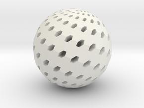 Loxodrome Pendant II in White Natural Versatile Plastic