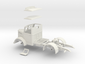 1:43 Bedford OS Tractor in White Natural Versatile Plastic