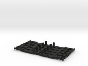 OO NEM Type 3 Coach Drawbar X10 in Black Natural Versatile Plastic