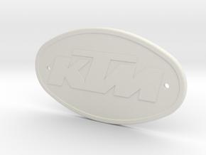 KTM BADGE in White Natural Versatile Plastic