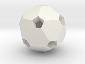 Polyhedron Pendant I in White Natural Versatile Plastic