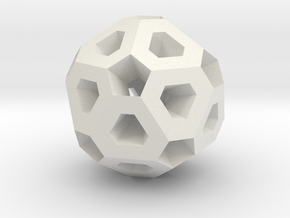 Polyhedron Pendant II in White Natural Versatile Plastic