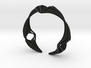 Youniq Edge Bracelet  in Black Premium Versatile Plastic: Extra Small