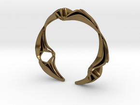Youniq Edge Bracelet  in Polished Bronze: Extra Small