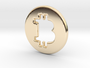 Bitcoin Hollow in 14K Yellow Gold