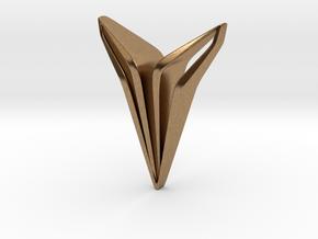 YOUNIQ Edge, Soft Pendant in Natural Brass