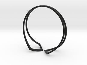 HIDDEN HEART Bracelet  in Black Premium Versatile Plastic: Medium