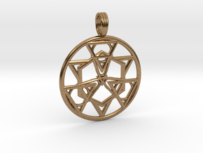 HOLY SYMMETRY in Natural Brass