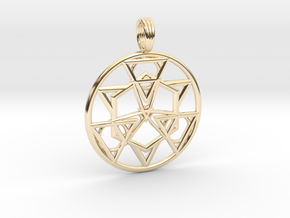 HOLY SYMMETRY in 14k Gold Plated Brass