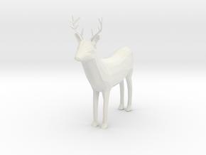 Buck in White Natural Versatile Plastic