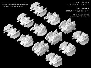 (Armada) SWTOR Fighter Set I in Smooth Fine Detail Plastic