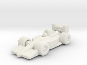 F1 Race Car in White Natural Versatile Plastic
