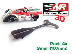 Slot Car - Display Stand (Small - 107mm) in Black Strong & Flexible