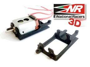 3D Motor Mount replacement for Ninco 80605  in Black Natural Versatile Plastic