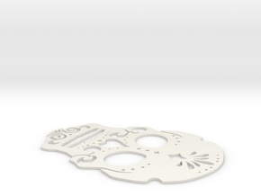 Day of dead stencil (coaster size) in White Natural Versatile Plastic