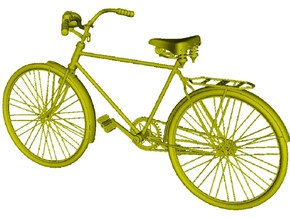 1/20.3 scale WWII Wehrmacht M30 bicycle x 1 in Smooth Fine Detail Plastic