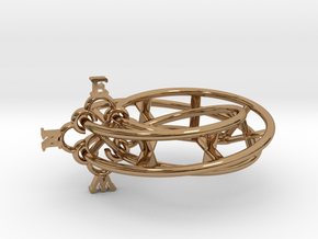 Mobius Compass  in Polished Brass (Interlocking Parts)