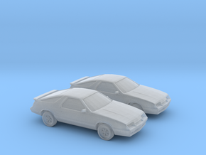 1/160 2X 1983 Chrysler Laser/Dodge Daytona in Smooth Fine Detail Plastic