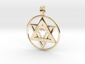MIND, BODY, SPIRIT TRINITY in 14K Yellow Gold