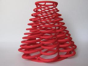 Serpentine with 8 Waves in Red Processed Versatile Plastic