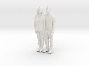 Printle C Couple 080 - 1/87 - wob in White Natural Versatile Plastic