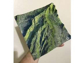 "HURT100 Course Map, Hawai'i: 8""x8""@1:20,000 Scale in Matte Full Color Sandstone"