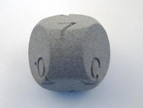 D7 3-fold Sphere Dice in Metallic Plastic