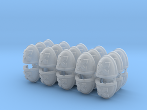 Assault Squad Mk7/8 Shoulder Pads x30 in Smoothest Fine Detail Plastic