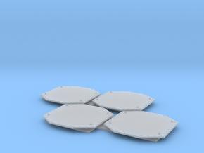 1:96 scale Aegis Radar panels in Smooth Fine Detail Plastic