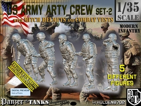 1/35 US Arty Crew Cold Weather Set2 in Smooth Fine Detail Plastic