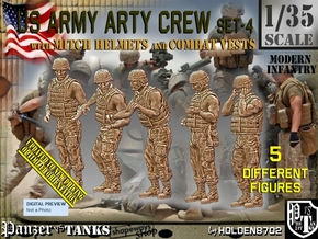 1/35 US Arty Crew Hot Weather Set4 in Smooth Fine Detail Plastic