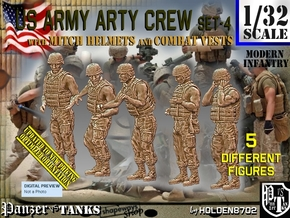 1/32 US Arty Crew Hot Weather Set4 in White Natural Versatile Plastic