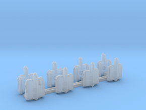 Omni Scale Romulan StarHawk Gunboat Flotilla WEM in Smooth Fine Detail Plastic