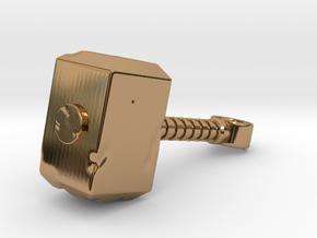 DAMAGED THOR HAMMER in Polished Brass