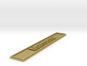 Nameplate Marceau in Natural Brass