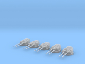 1/700 HMS Dreadnought 12 inch /45 Turrets SET in Smooth Fine Detail Plastic
