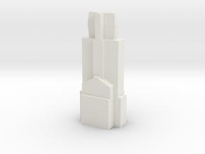 Mitsumi standard mechanical keyswitch stem, type 1 in White Natural Versatile Plastic