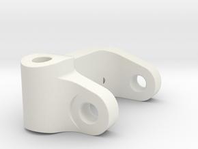 Five Seven Designs Plus 5 Left Front Caster Block  in White Natural Versatile Plastic