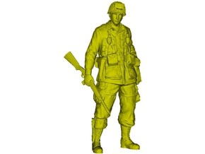 1/32 scale D-Day US Army 101st Airborne soldier in Smooth Fine Detail Plastic