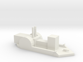 Confederate Gunboat in White Natural Versatile Plastic