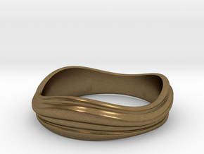 Ebb and Flow Ring No.2 - Size 7 in Natural Bronze