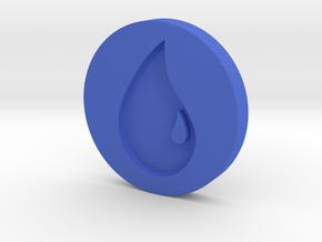 Island Token in Blue Processed Versatile Plastic