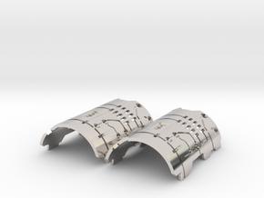 Graflex Mentor - Var1 Part07 - Plates - Style1 in Rhodium Plated Brass