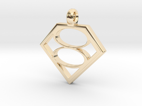 Smallville House of El necklace V2 in 14K Yellow Gold