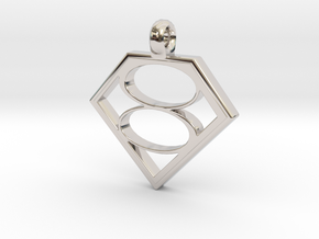Smallville House of El necklace V2 in Rhodium Plated Brass